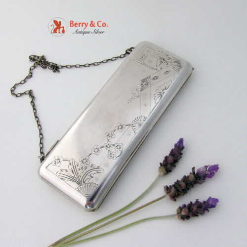 Russian Silver Purse 84 Standard 1910 Floral Engraved Matte Finish