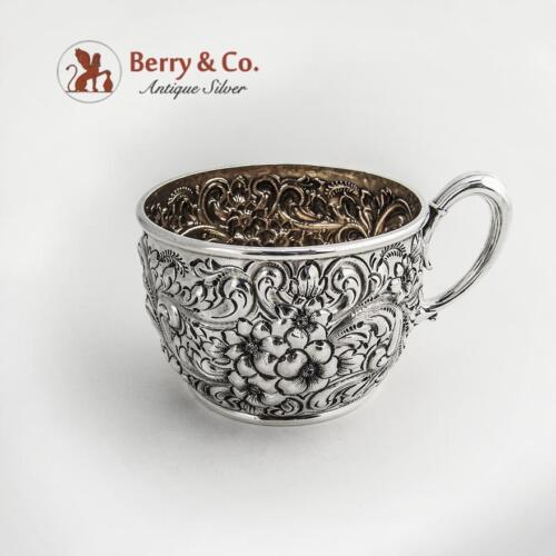Ornate Repousse Cup Dominick and Haff Sterling Silver 1886