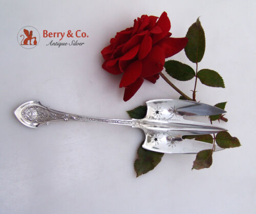 """Angelo Serving Fork 8 1/4"""" Wood And Hughes Sterling Silver 1875"""