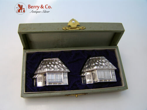 Figural House Japanese Salt And Pepper Shakers 950 Sterling No Mono