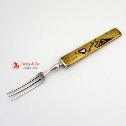 Bird Japanese Mixed Metals Fork 1880 Sterling Silver Copper