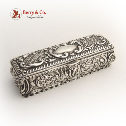 Ornate  Dresser Box Birmingham 1904 Sterling Silver