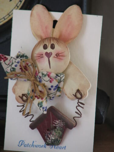 Handmade Country EASTER  Bunny Pin