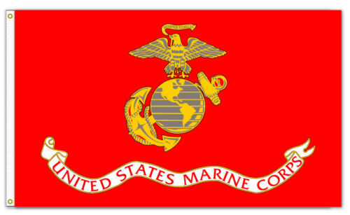 US MARINE CORPS FLAG  Polyester 3' x 5' Flags & Banners - 36067