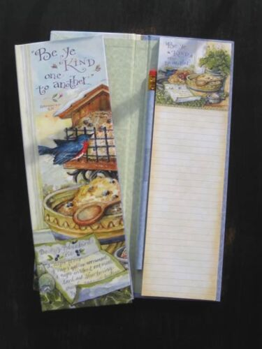 BLUEBERRY MIXING BOWL LIST PAD KEEPER w PENCIL