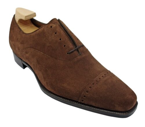 GAZIANO & GIRLING CAMBRIDGE OXFORDS IN MINK SUEDE