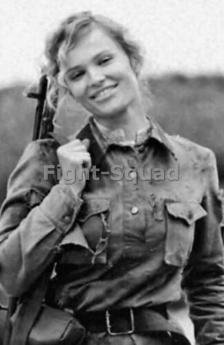 WW2 Picture Photo Russian female soldier during WWII 3183Photographs - 165610