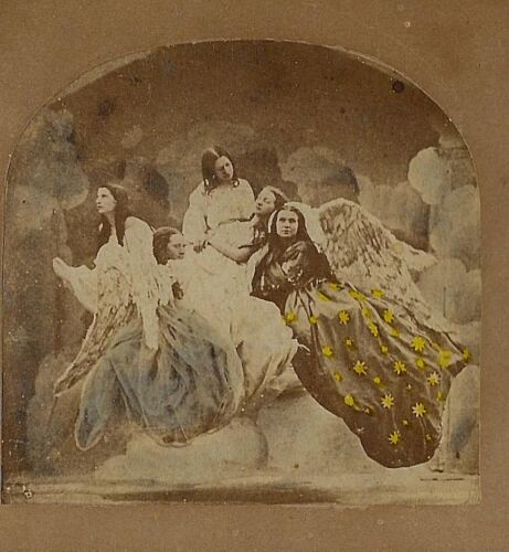 Angels in Heaven - Ascension of Marguerite 1860s Stereoview