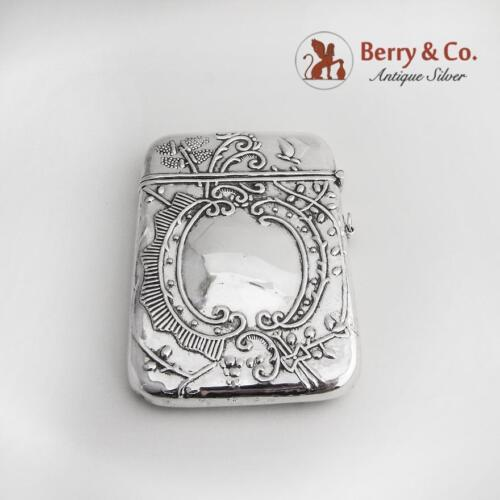 Ornate Card Case Sterling Silver 1900-1920