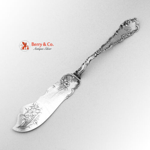 Junior Rococo Master Butter Knife Sterling Silver Wendell 1896