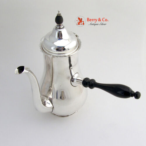 Chippendale Coffee Pot Sterling Silver Barbour International 1930