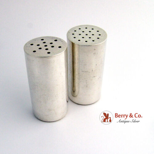 Allan Adler Cylindrical Sterling Large Shakers 1949