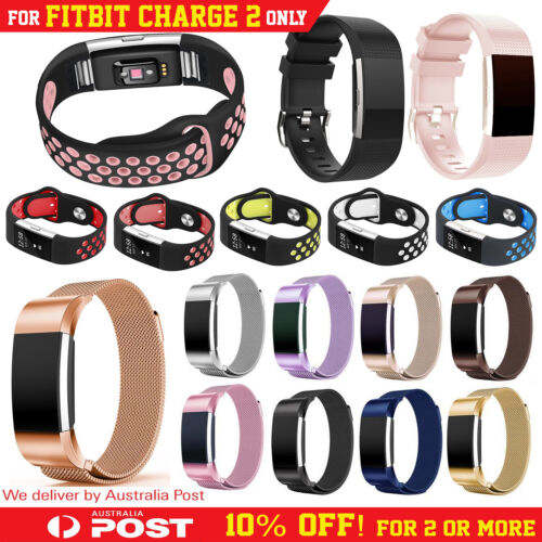 Fitbit Charge 2 Bands Replacement Wristband Watch Strap Silicone Metal Luxe Band <br/> ✔Premium Quality ✔NSW Stock ✔Satisfaction Guarantee!!