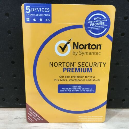 NORTON BY SYMANTEC NORTON SECURITY PREMIUM 5 DEVICES 25GB CLOUD STORAGE FOR PC