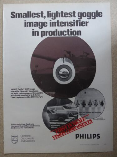 1/1979 PUB PHILIPS ELECTRONIC NIGHT VISION NOCTURNE INFRA RED ORIGINAL AD