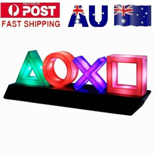 Ps PlayStation Music Decorative Reactive LED Icons Light Game Room Modes 2021