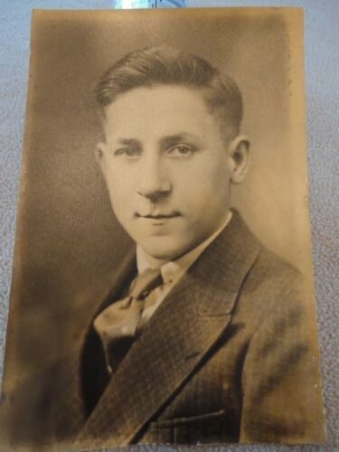 Early Photo Young Man Early Ancestor 1900's Vintage
