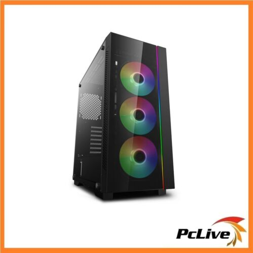 NEW Deepcool Matrexx 55 V3 ADD-RGB 3F Gaming Mid Tower Case Tempered Glass E-ATX