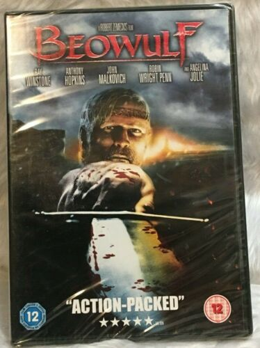 DVD Beowulf Ray Winstone Anthony Hopkins Motion-Capture Animated Film R 2 NEW