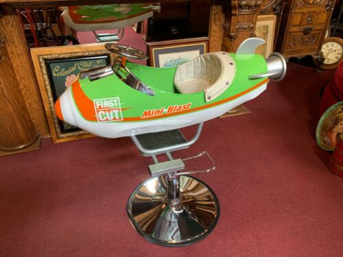 """Rocket Carnival Ride Child's Barber Chair  """"Watch Video"""""""