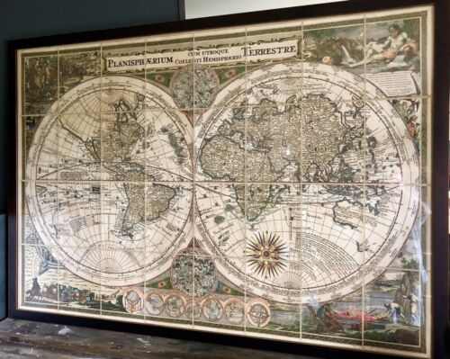 """Vintage World Map"".. 1700's"