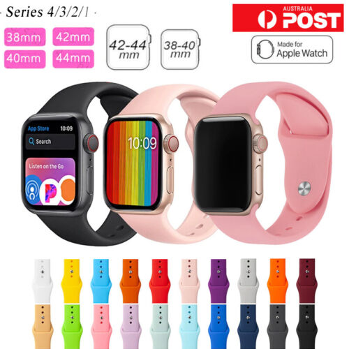 For Apple Watch iWatch Series 12345 Silicone Replacement Strap Band 38 40 42 44m <br/> ⭐FAST DISPATCH ⭐WATERPROOF⭐LIMITED TIME ONLY⭐SYD STOCK⭐