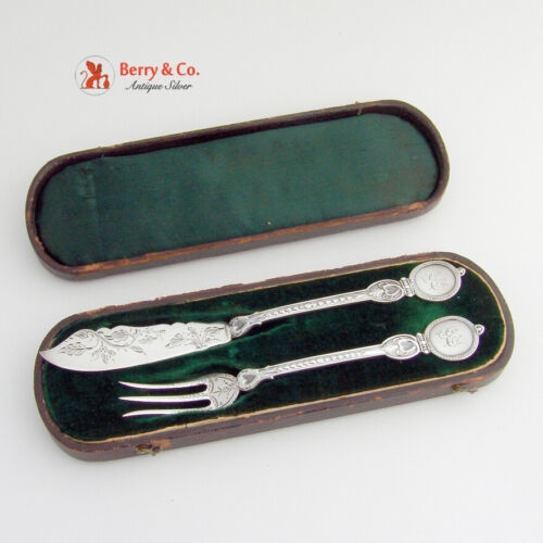 Pickle Flatware Set Albert Coles American Coin Silver 1870