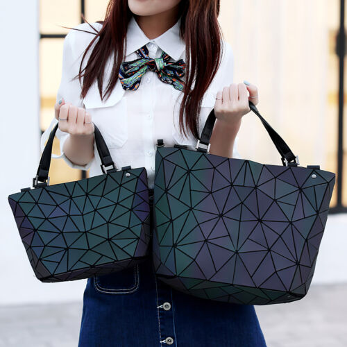 Laser Luminous Geometric Diamond Tote Women's Shoulder Bag Handbag High-Capacity