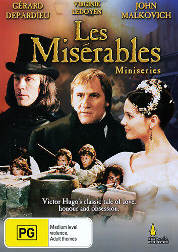 Les Miserables DVD miniseries Gerard Depardieu New and Sealed Australia