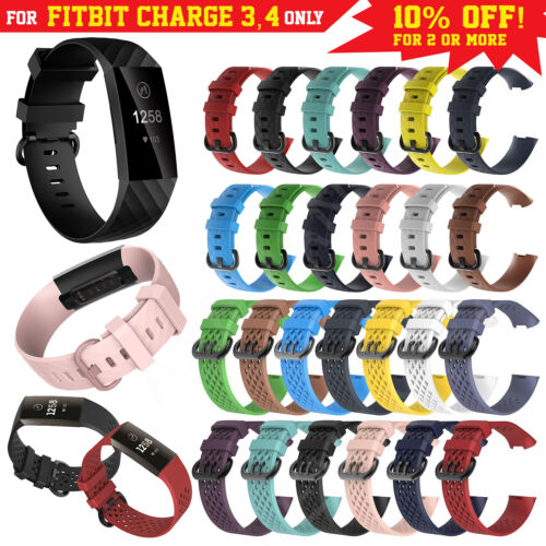 Fitbit Charge 3 Band Replacement Wristband Watch Strap Soft Silicone Sport Bands