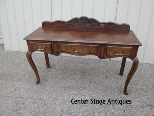 58795 French Country Oak Writing Desk  Sideboard Server Buffet