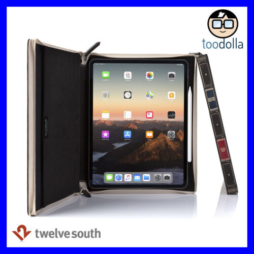 TWELVE SOUTH BookBook vol 2, Vintage Style Leather Case for iPad Pro 12.9 (2018)