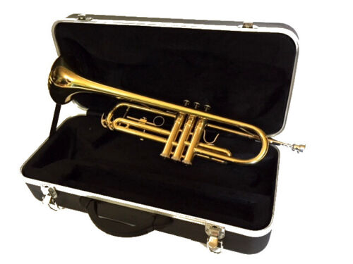 Bb TRUMPET-BANKRUPTCY SALE-BRAND NEW INTERMEDIATE CONCERT BRASS BAND TRUMPETS   <br/> SMOOTH VALVES AND SLIDES-BEAUTIFUL CRISP SOUND