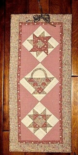 SAMPLER Patchwork Wall Hanging Soft Pinks  Hand made in USA