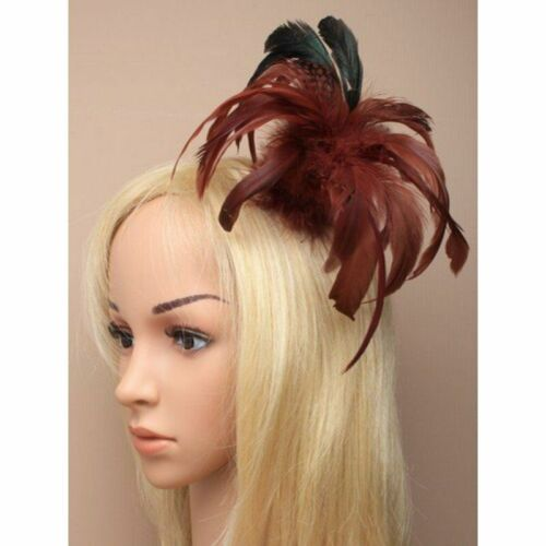 Hair fascinator  in brown, high rise clip suitable for buns weddings, races,prom