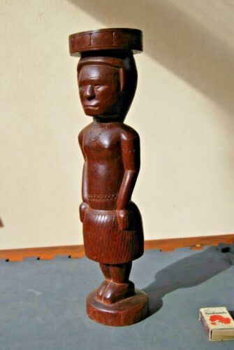 Large NEW GUINEA ANCESTOR female FIGURE Massim culture Trobriand Islands OLD
