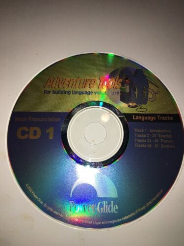 Power-Glide Noun Pronunciation-Language Tracks-2 cd's-Vocabulary Building-RARE
