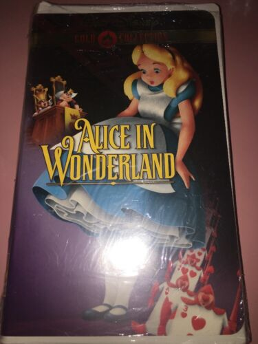 Walt Disney's ALICE IN WONDERLAND Gold Collection VHS Video New and Sealed Rare