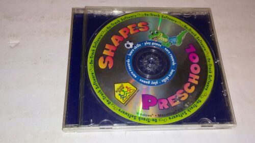 School Zone Shapes Preschool PC CD-ROM kids early learning matching track game