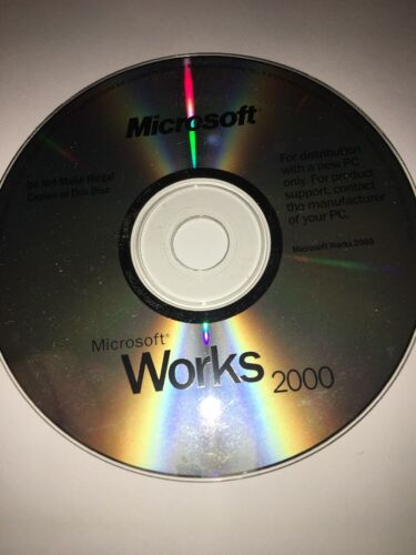 Microsoft Works 2000 #X04-75247 Replacement Disc (PC, 1999) - disc Only TESTED