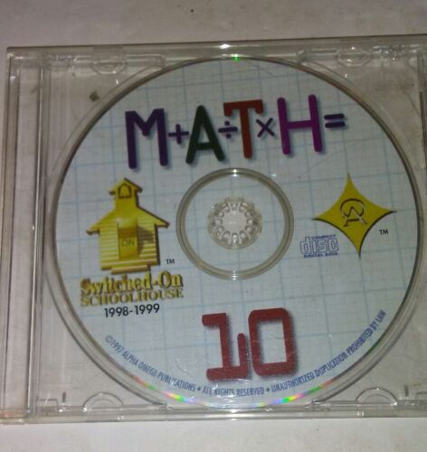 Switched On Schoolhouse 10th Grade Math 1998-1999