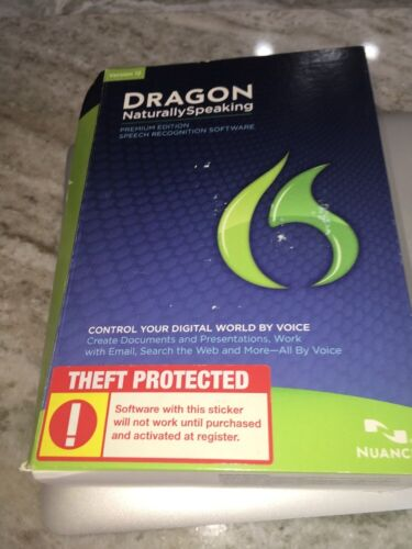 NEW DRAGON 12 NATURALLY SPEAKING PREMIUM EDITION SPEECH RECOGNITION SOFTWARE