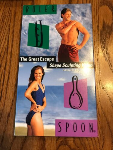 Escape Your Shape Ruler Spoon VHS Video Tape Ships N 24h