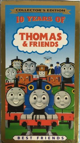 10 YEARS OF THOMAS & FRIENDS-BEST FRIENDS VHS COLLECTOR'S EDITION TESTED RARE