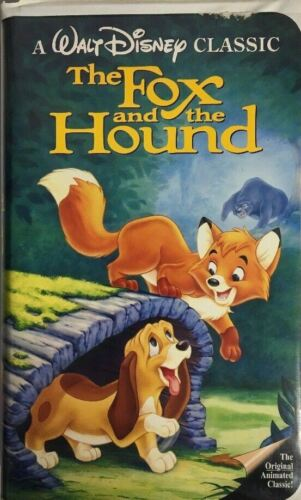 SHIP N24-Walt Disney black diamond classic the Fox and the Hound VHS-TESTED-RARE