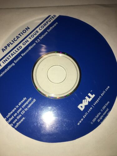 Dell Application CD For Reinstalling Sonic RecordNow 7.3 DeluxSoftware-P/N D8506