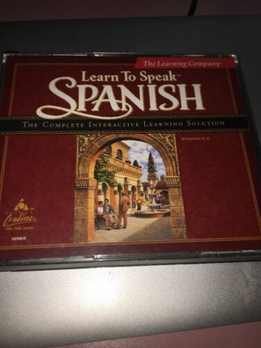 THE LEARNING COMPANY Learn to Speak Spanish Vers 8 COMPLETE INTERACTIVE SOLUTION