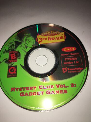 JumpStart Advanced 3rd Grade-Mystery Club Vol 2/Gadget Games-Version 1.0c-Disc 3