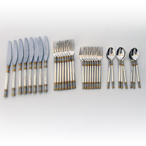 Aegean Weave Gold 8 Person 32 Piece Regular Set Wallace Sterling