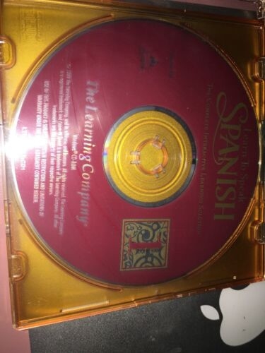 THE LEARNING COMPANY - LEARN TO SPEAK SPANISH VERSION 8.0 - PC Disc 1
